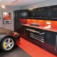 вариант необычного интерьера гаража картинка