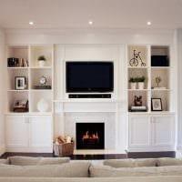 идея современного дизайна гостиной комнаты 17 кв.метров картинка