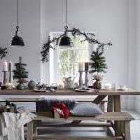 идея необычного декорирования стола картинка