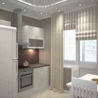 вариант оригинального дизайна 2 комнатной квартиры фото пример