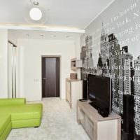 вариант необычного стиля гостиной комнаты 17 кв.метров фото