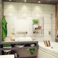 идея красивого интерьера ванной комнаты фото