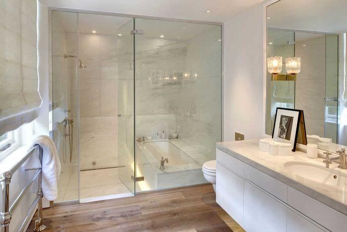вариант красивого стиля ванной