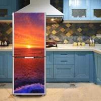 вариант красивого оформления холодильника фото
