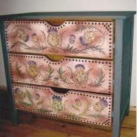 вариант замены обшивки мебели подручными материалами фото