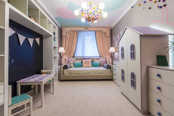 вариант красивого стиля спальни для девочки