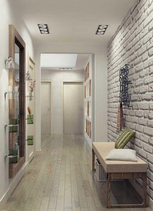 вариант цветной интерьера коридора