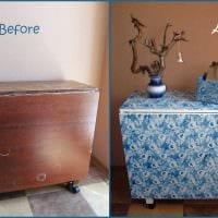 вариант декорирования мебели подручными материалами фото