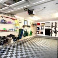 вариант красивого интерьера гаража картинка