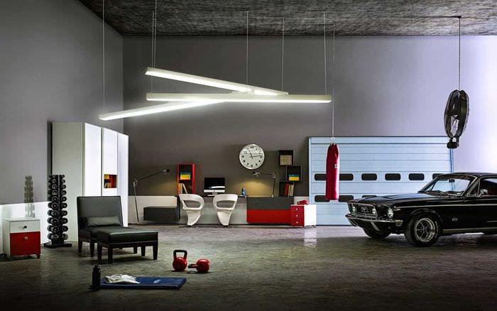 вариант необычного стиля гаража