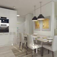 идея красивого декора кухни 3-х комнатной квартиры фото