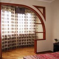 идея оригинального дизайна спальни с аркой картинка