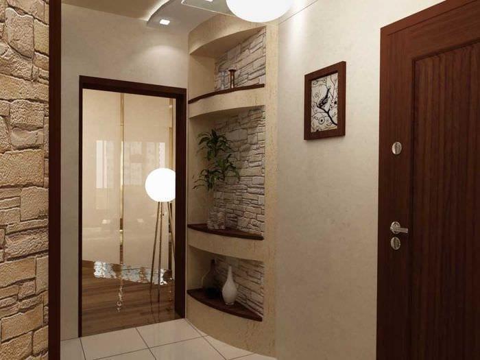 вариант цветной декора коридора