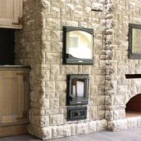 идея необычного декоративного камня в интерьере комнаты фото