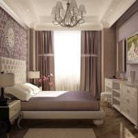 идея необычного декорирования интерьера спальной комнаты фото