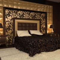 идея необычного декорирования дизайна спальной комнаты фото