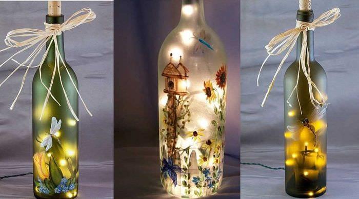 Как декорировать бутылки своими руками 361
