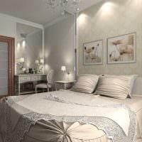 идея оригинального декорирования интерьера спальной комнаты картинка