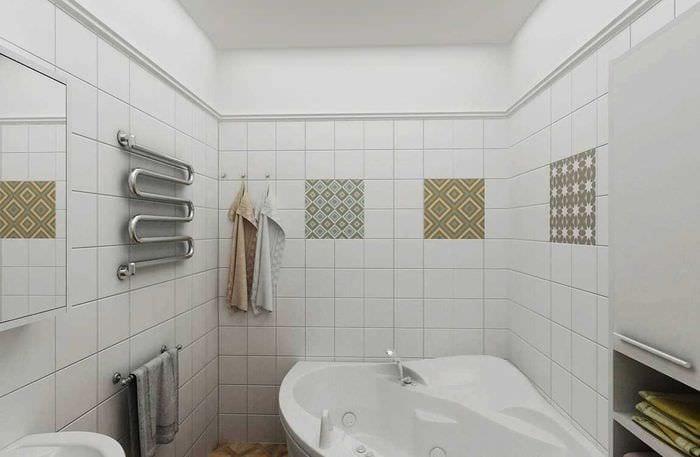 идея красивого стиля белой ванной