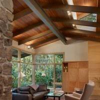 вариант яркого стиля дома в дереве картинка