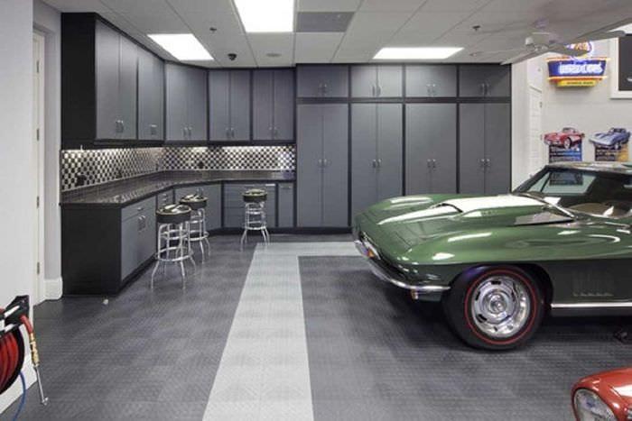 идея современного оформления гаража