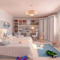 идея цветной стиля спальни для девочки картинка
