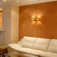 идея красивого интерьера комнаты с декоративной штукатуркой картинка
