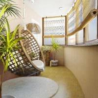 вариант современного интерьера маленького балкона картинка