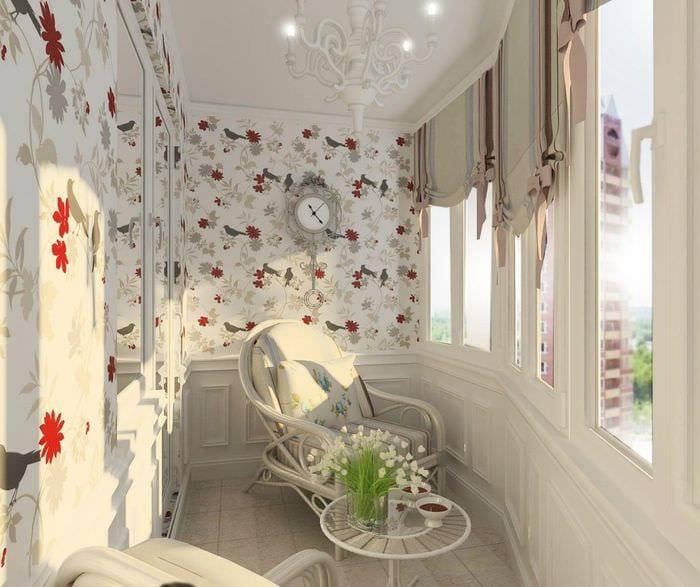 идея современного декора маленького балкона