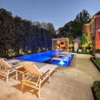 идея красивого интерьера маленького бассейна фото