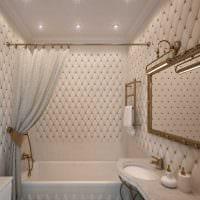 вариант необычного стиля ванной комнаты фото
