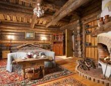 идея современного интерьера гостиной в деревенском стиле фото