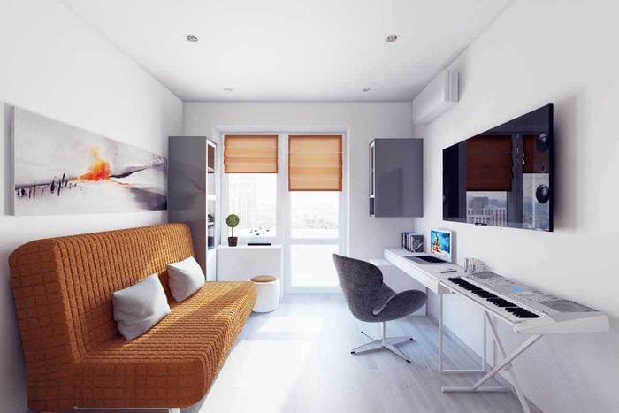 вариант яркого интерьера квартиры