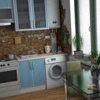 вариант красивого декора кухни 3-х комнатной квартиры фото
