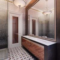 вариант оригинального дизайна ванной в квартире фото