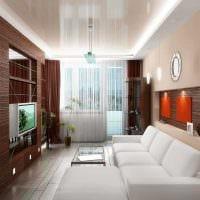вариант оригинального стиля гостиной комнаты 17 кв.метров фото