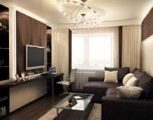 вариант красивого стиля гостиной комнаты 17 кв.метров картинка
