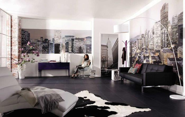 идея красивого украшения стен в гостиной