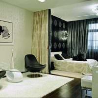 вариант функционального дизайна гостиной комнаты 17 кв.метров фото