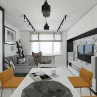 вариант яркого дизайна 2 комнатной квартиры фото пример
