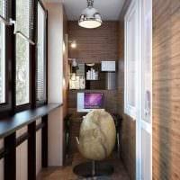 вариант современного стиля небольшого балкона картинка