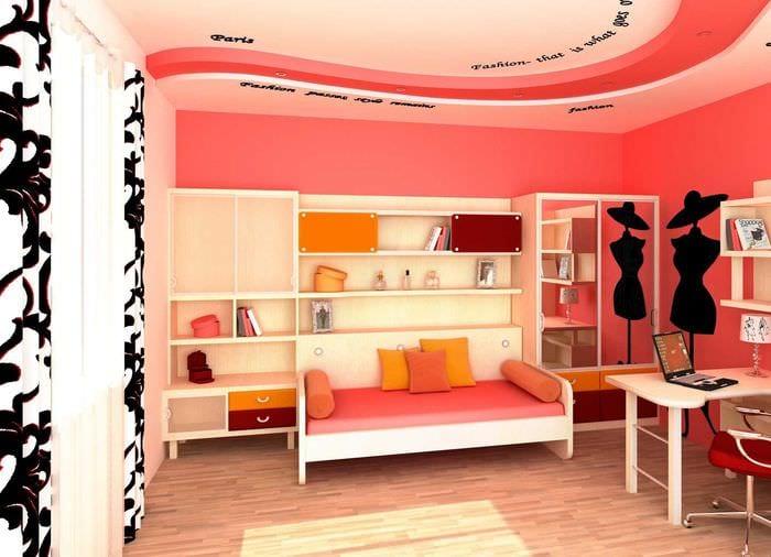 идея оригинального стиля спальни для девочки