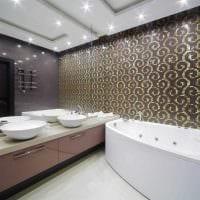 вариант красивого стиля ванной в квартире фото