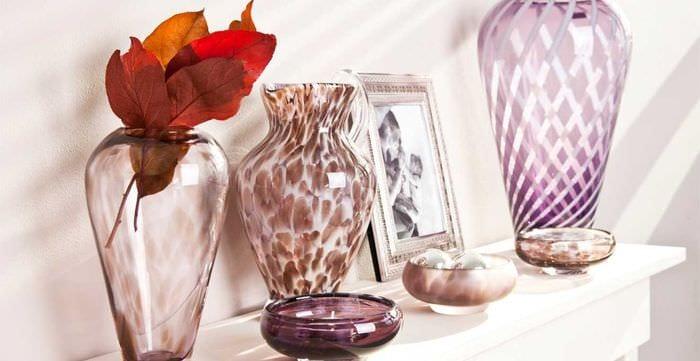 вариант необычного оформления вазы