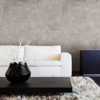 вариант красивой декоративной штукатурки в стиле квартиры под бетон фото