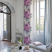 идея оригинальных декоративных штор в стиле комнаты картинка