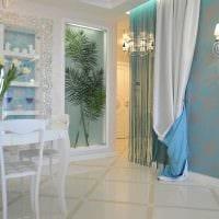 вариант оригинальных декоративных штор в дизайне квартиры фото