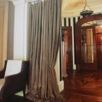 идея необычных декоративных штор в стиле комнаты картинка