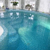 идея красивого дизайна небольшого бассейна фото