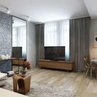 идея красивого дизайна гостиной 3-х комнатной квартиры фото